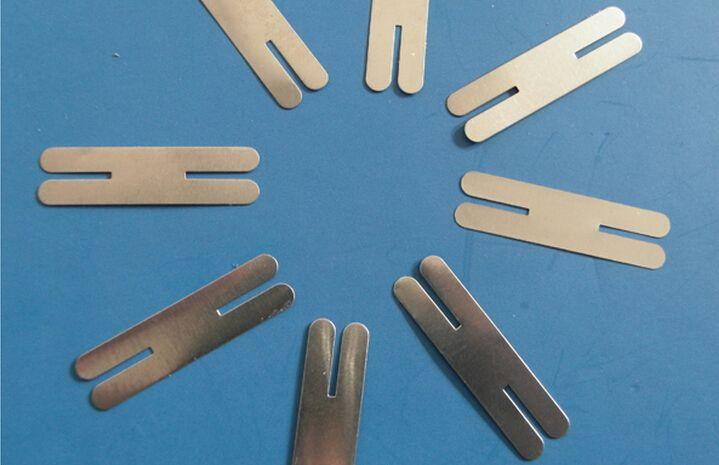 500pcs 0.2x30x8mm H-type Nickel Plated Steel Strap Strip Sheets for battery spot welding machine Welder Equipment