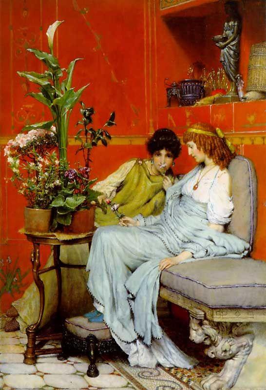 Confidences by Lawrence Alma-Tadema