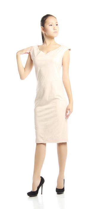 Изделие: Платье-футляр. Материал: Искусственная замша.