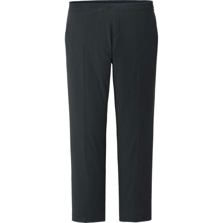 Made with soft fabric and a comfortable elastic waist, these cropped pants are an effortless addition to any wardrobe. Sharp and stylish whether you want to dress them up or stay casual. <br><br>• Cropped pants are chic and easy<br>• Elastic waistband for all-day comfort<br>• Can be dressed up or down depending on the occasion<br>F