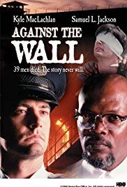 #1372. Against the Wall, January, 2018.  An idealistic young recruit, Michael Smith, begins working in Attica Penitentiary and quickly learns how awfully the inmates are being treated. Soon a prison riot breaks out, and Smith and the other guards are taken hostage. The prisoners, led by Jamaal X, take control of the jail and demand better living conditions. Despite the tense environment, Smith finds sympathy for Jamaal, who is a political prisoner.