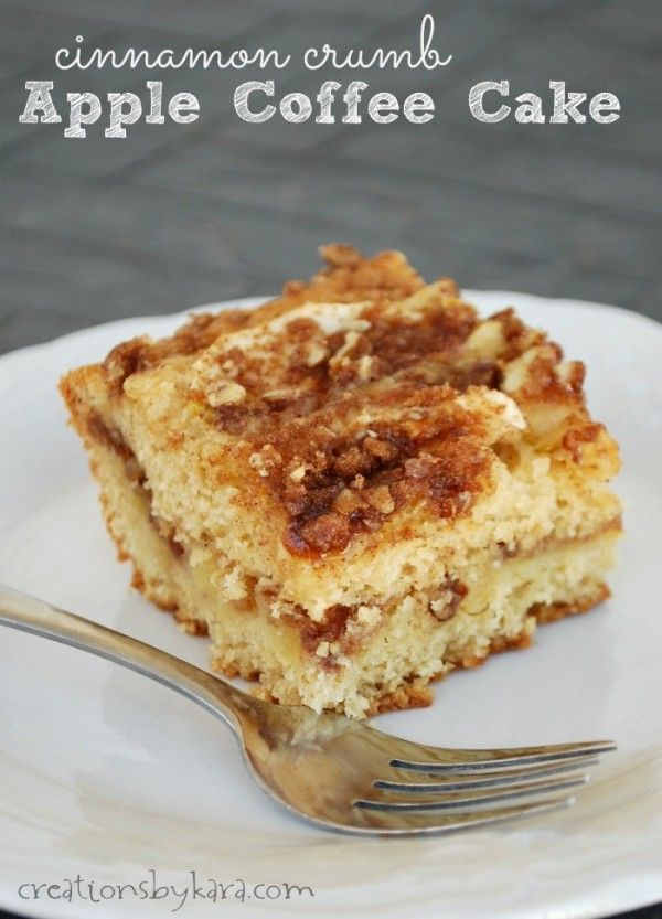 Delicious Apple Coffee Cake with a Cinnamon Crumb topping. A tasty ...