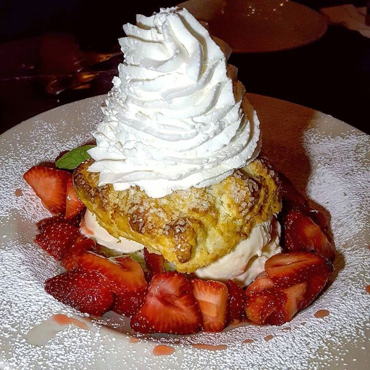 Fresh Strawberry Shortcake before the Snow Storm? Sure! -- #Dessert #Strawberries #Vanilla #IceCream #Shortcake #WhippedCream #Food #Foodie #Instafood #FoodPorn #Foodstagram #GrandLuxCafe #NewJersey #NJ #JerseyEats #Eeeeeats #FoodBlog #DesiredTastes