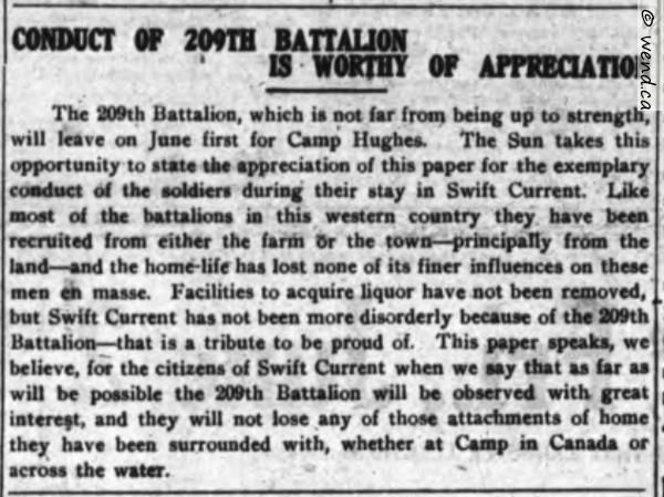 This is the second post in a series about a group of World War 1 soldiers from Mill Village, Nova Scotia who all enlisted for the 209th Battalion in Swift Current, Saskatchewan. For full context an…