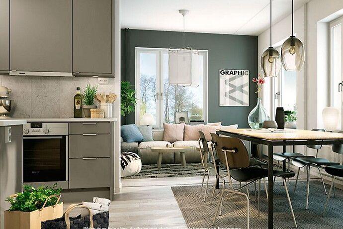 Bilder, Vardagsrum, Kök/matplats, Modernt, Grön, Grå - Hemnet Inspiration