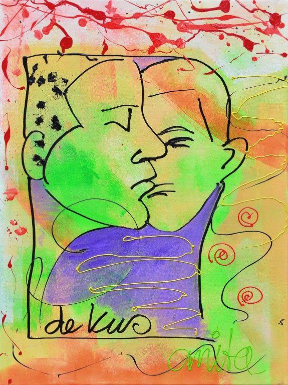 De kus schilderij