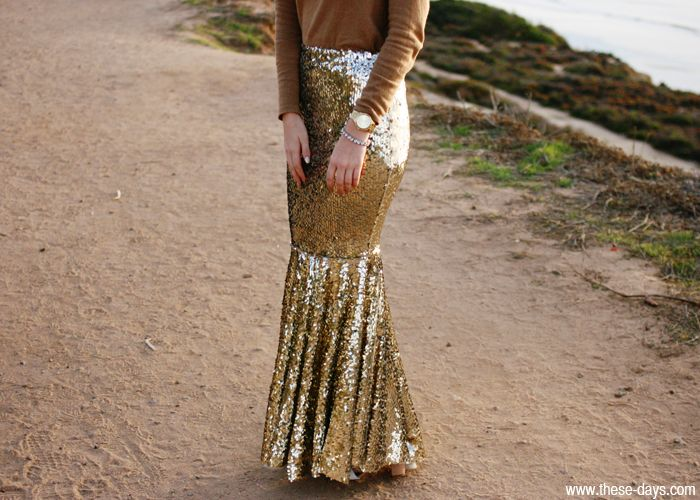 Maak zelf deze prachtige zeemeermin rok bedekt van pailletten stof, ook gaaf voor kostuums! >> DIY Gorgeous mermaid skirt with sequins