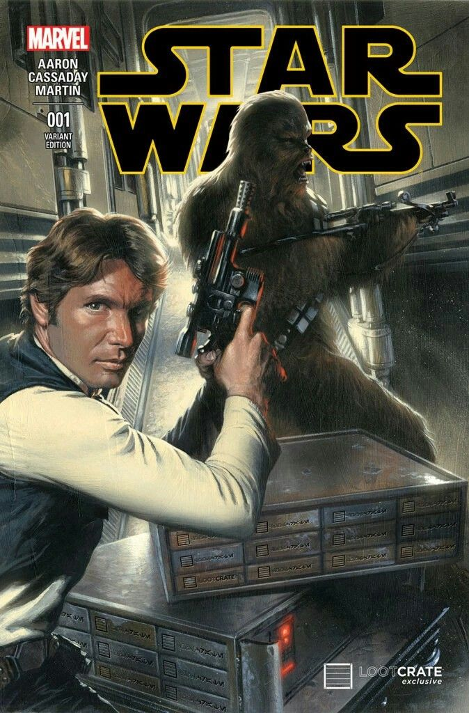Han SOLO and Chewbacca | By Gabriele DELL'OTTO (MARVEL Comics) | STAR WARS : Characters