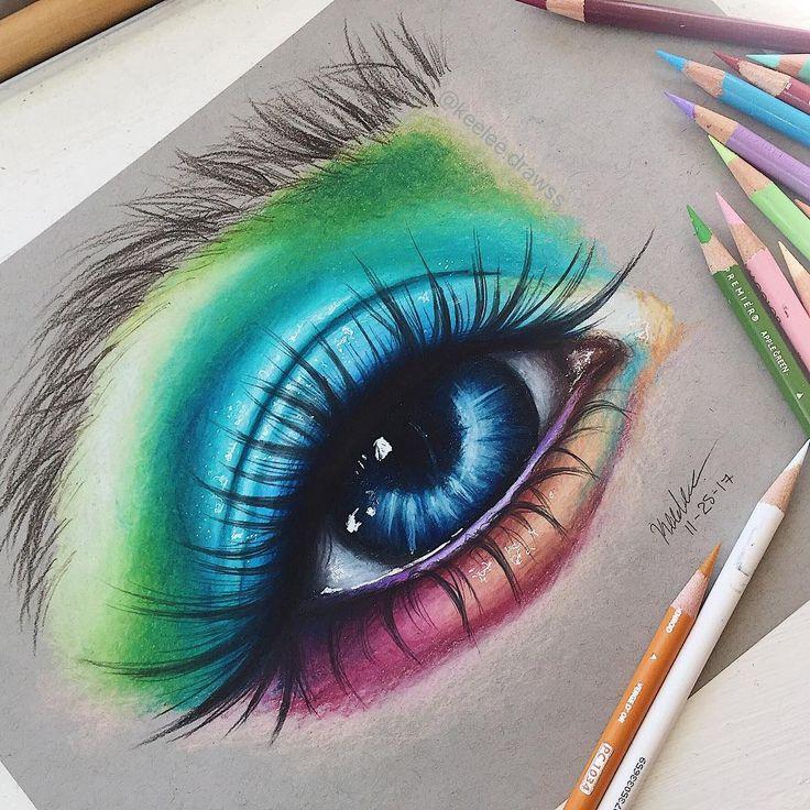 Colorful eye drawing