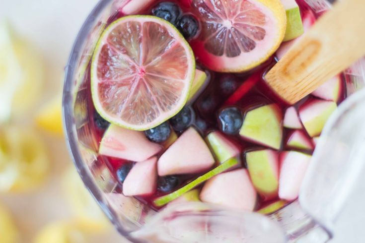 Oversharing Over The BEST Red Wine Sangria: blueberry + apple
