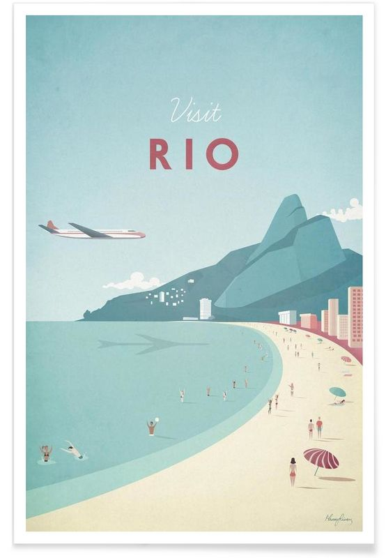 Rio as Premium Poster by Henry Rivers | JUNIQE
