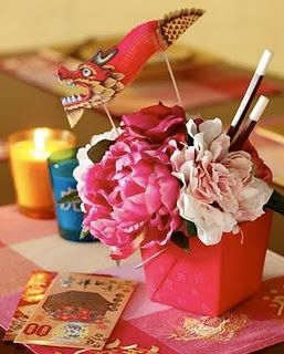 table centerpieces for around the world party | Oriental table decorations | Entertaining - Around the World
