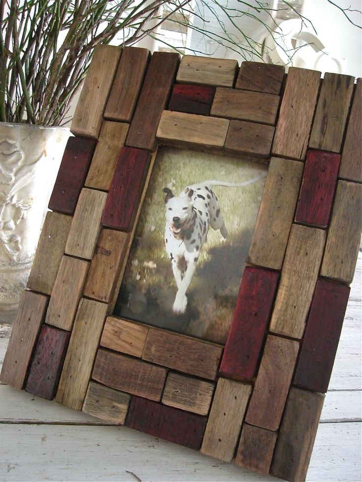 "Love this frame.  You could do something like this with the ""Jenga Frame"" tutorial on this board."