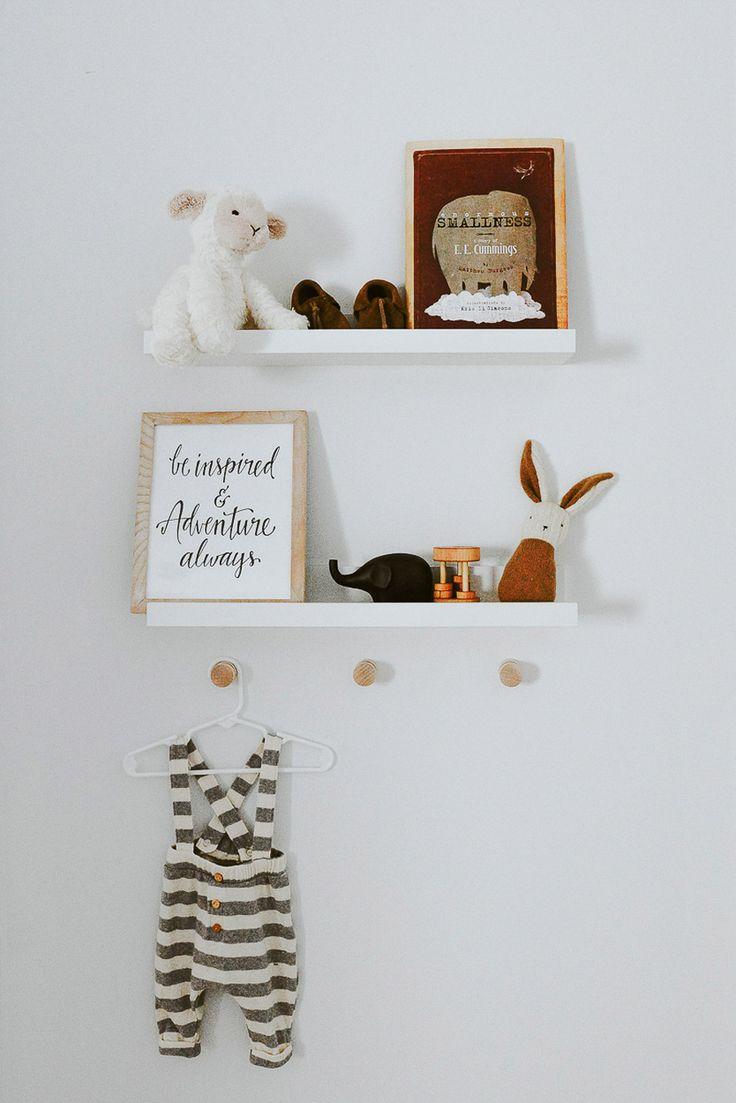 nursery reveal - styling baby's shelves