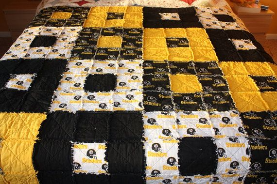 Pittsburgh Steelers Rag Quilt And Pittsburgh On Pinterest