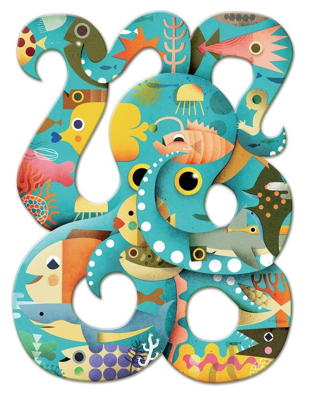 Djeco Puzzle Art Octopus 350 Pieces  350 pieces, oh my gosh this is a Christmas wish for me not for the boys! I also wish I had the patience to finish it, something to mount it on and a handy hubby to display it in the playroom once it's complete!!   #EntropyWishList  #PinToWin  #Djeco #onsessedwithDjeco