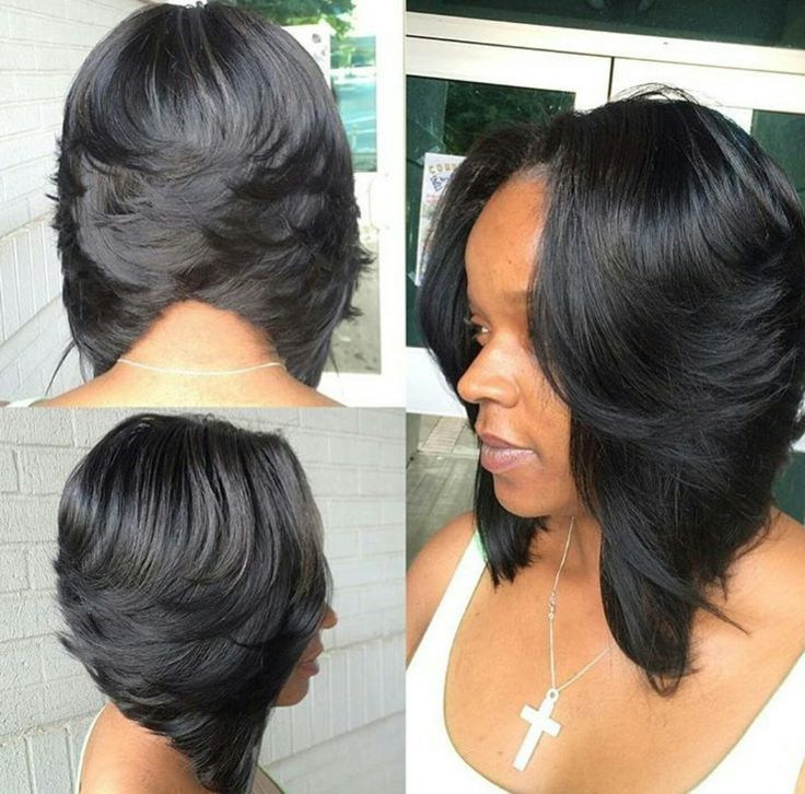 short bob haircuts for black hair 25 best ideas about feathered bob on black 1519 | 54ca9335d116869a87c891bf1b0886a1
