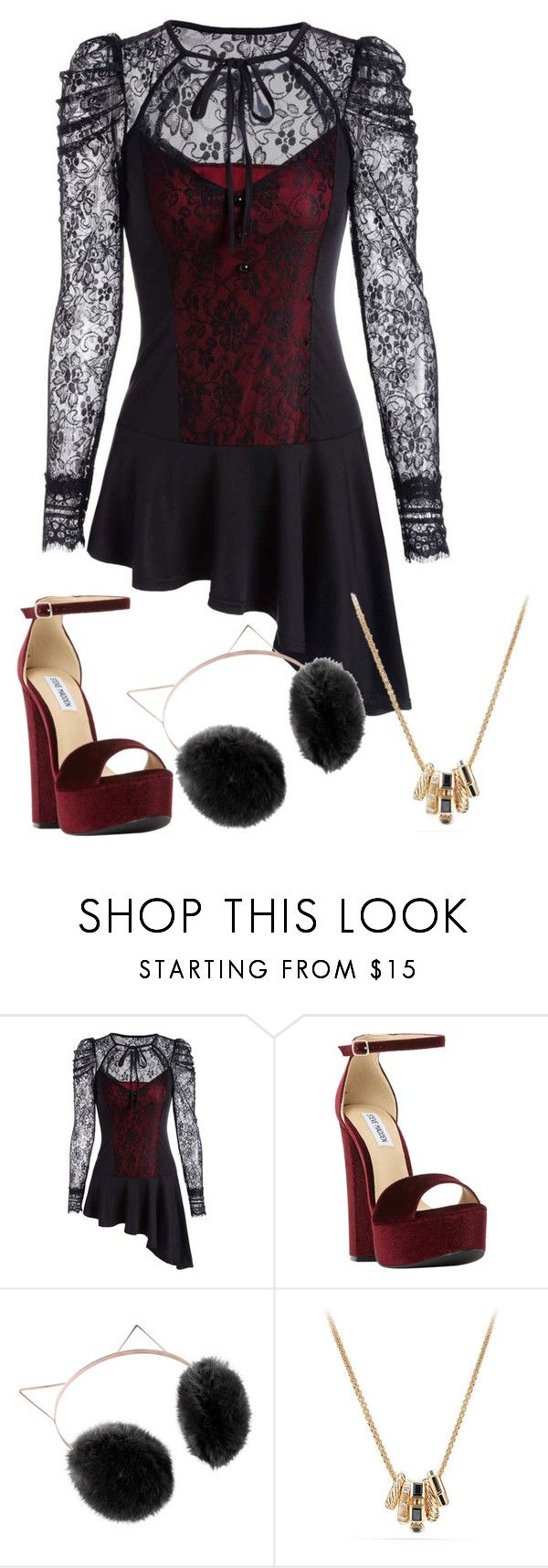 """""""SHOCK"""" by aleksova ❤ liked on Polyvore featuring Steve Madden, LC Lauren Conrad and David Yurman"""