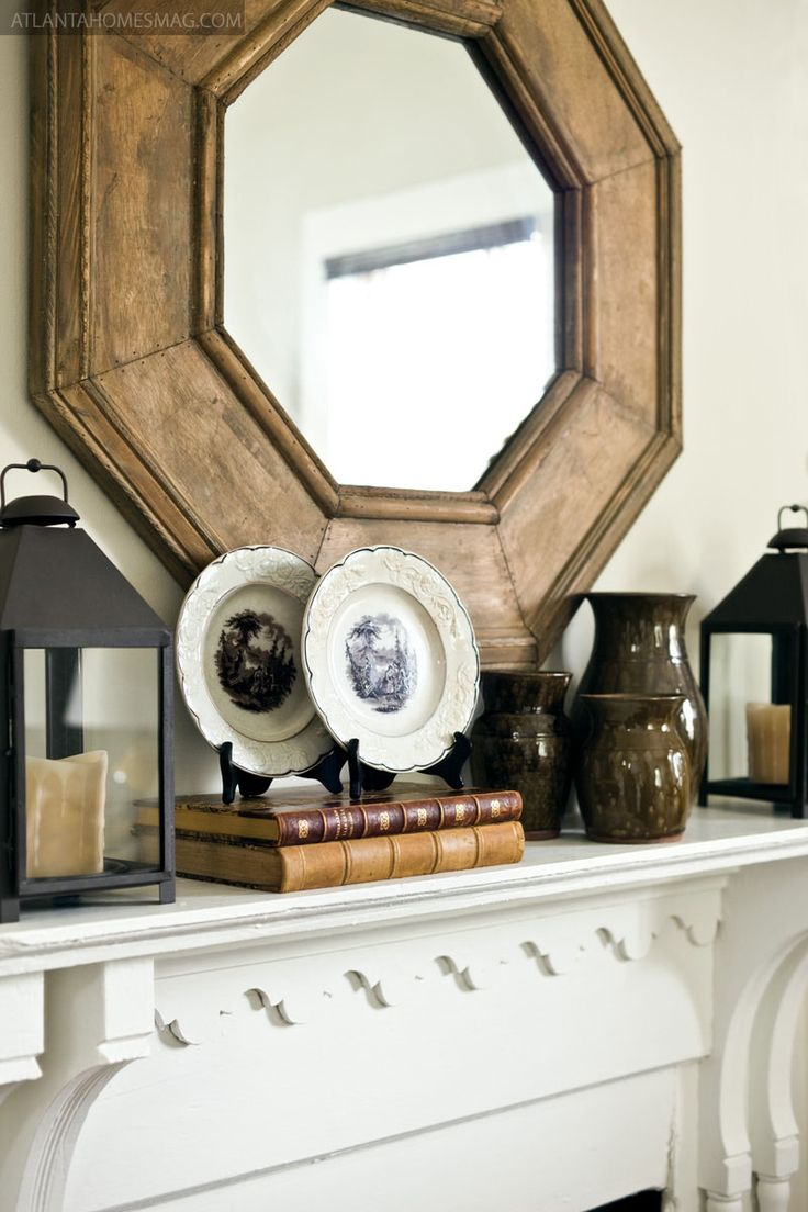 Mirror + Mantel Display