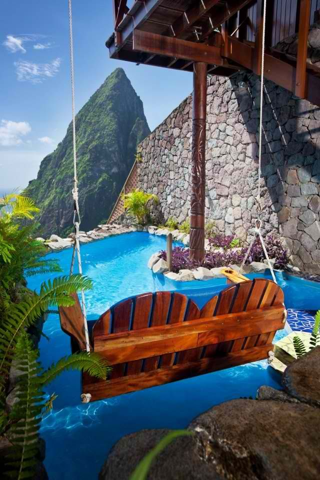 Ladera Resort, St. Lucia Caribbean #olala #Honeymoon Destinations // Aisle Perfect