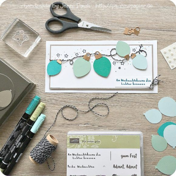Jenni Pauli Stampin'Up! Lichterkette Lightbulbs Card Card