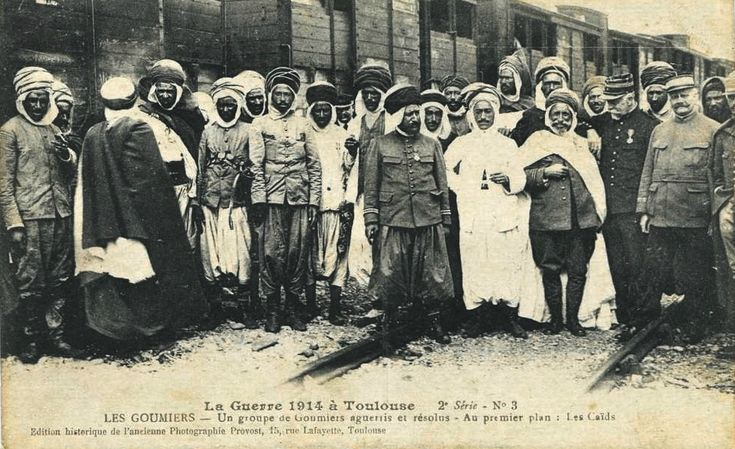 A Group of Algerians Caids during the First World War, Toulouse, 1914