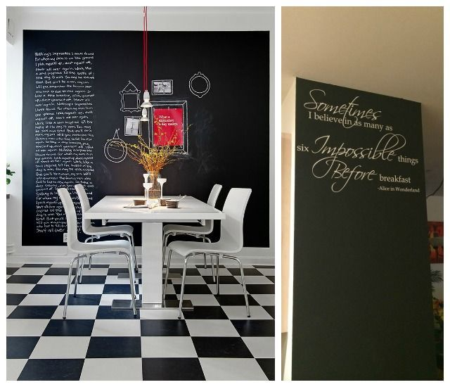 Chalkboard Wall In Dining Room