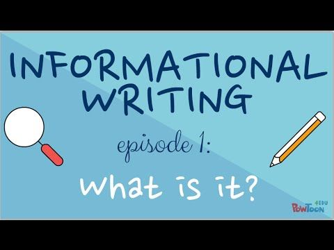 In this series, learn how to write your own informational book! Episode 1 explains the features of informational writing. Check out episode 2 to learn how to...