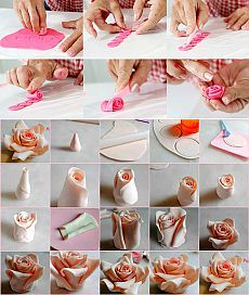 Розы из мастики - как сделать розы из мастики для торта, Торты с розами из сахарной мастики мастер класс