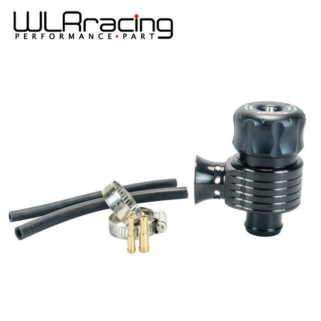 WLRING - Black 50/50 Recirc Valve & Dump Valve Bov Blow off Valve for AUDI A3 S3 A4 A6 A8 S4 TT 1.8 20v RACING TURBO WLR5743BK