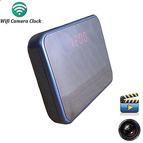 Wifi Hidden Spy Camera Alarm Clock Wireless Spy Cameras , Micro SD Card 8GB, Motion detection ,Audio Video Recorder,Blue, www.amazon.com/...