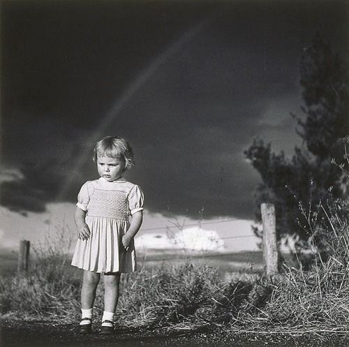 Photo by Max Dupain - Little girl in a thunderstorm, 1949.