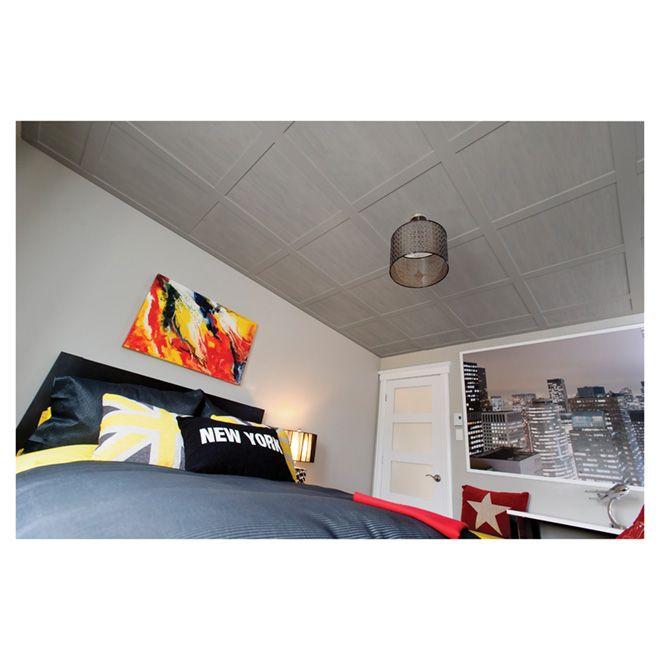 Tuiles pour plafond suspendu « Embassy », gris