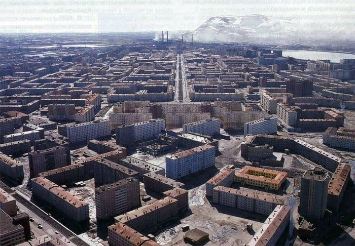 Norilsk Russia The Most Depressing City On Earth Norilsk City Aerial View