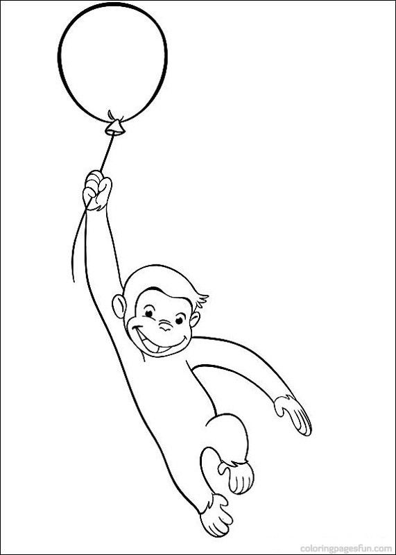 Curious George Coloring Pages 29 | Summer School | Pinterest