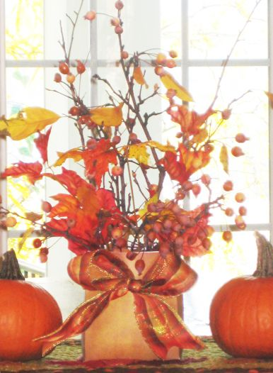 Fall centerpiece ideas quot leaf some of