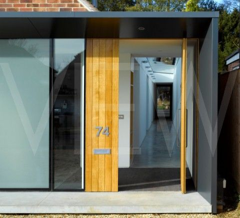 17 best images about front door extension on pinterest for Modern glass porch designs