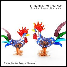 Figurine Product Type and Glass Material Rooster