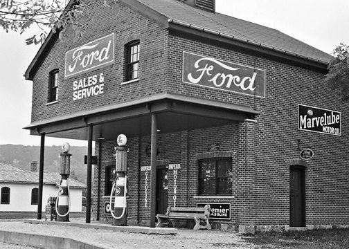 Vintage Gas Station Photography Black And White by Celticcatphotos, $18.00