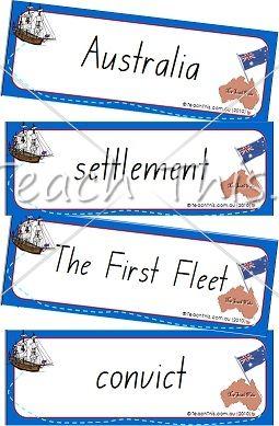 Australian Settlement History, Flash cards! www.teachthis.com.au