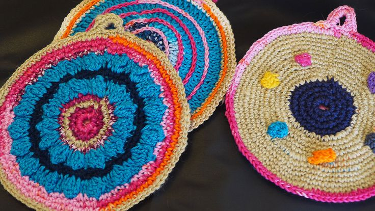 Crochet Pot Holders by Tricksland on Etsy