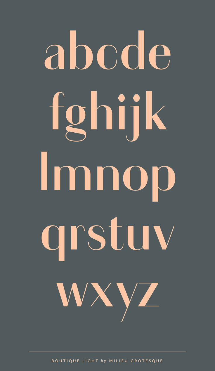 ✖ Boutique – Typeface by MilieuGrotesque