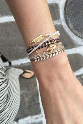Tattoo bracelets are back this season!! WWW.NEWONE-SHOP.COM #tattoobracelet #bracelet #jewelry