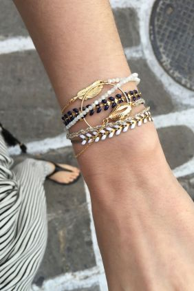 Tattoo bracelets are back this season!! WWW.NEWONE-SHOP.COM #tattoobracelet #bracelet #jewelry