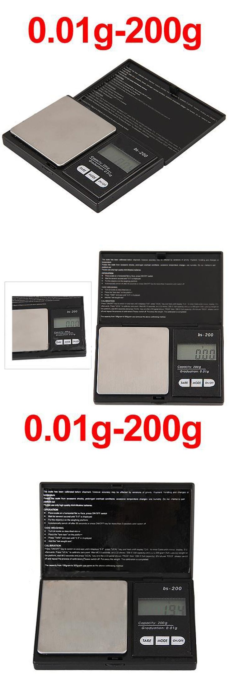 New Brand 200g * 0.01g Gram Weight Balance LCD Electronic Scale Pocket Digital Scale Jewelry Gold Diamond Weighting Scale