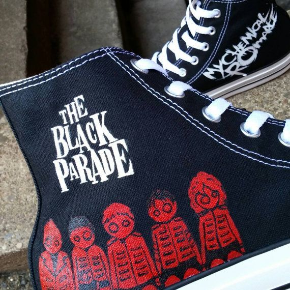 MCR Inspired Shoes. My Chemical Romance Shoes. The by HJArtistry. YEP IT IS OFFICIAL I NEED THESE RIGHT NOW