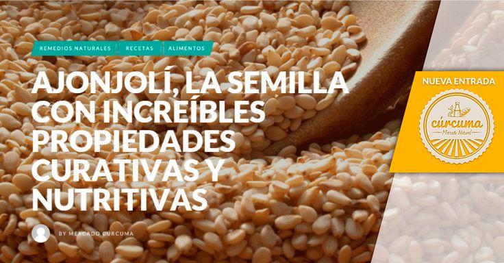 El ajonjolí, más que una semilla es un ingrediente con propiedades curativas y nutritivas. http://blog.mercadocurcuma.com/?p=277&preview=true