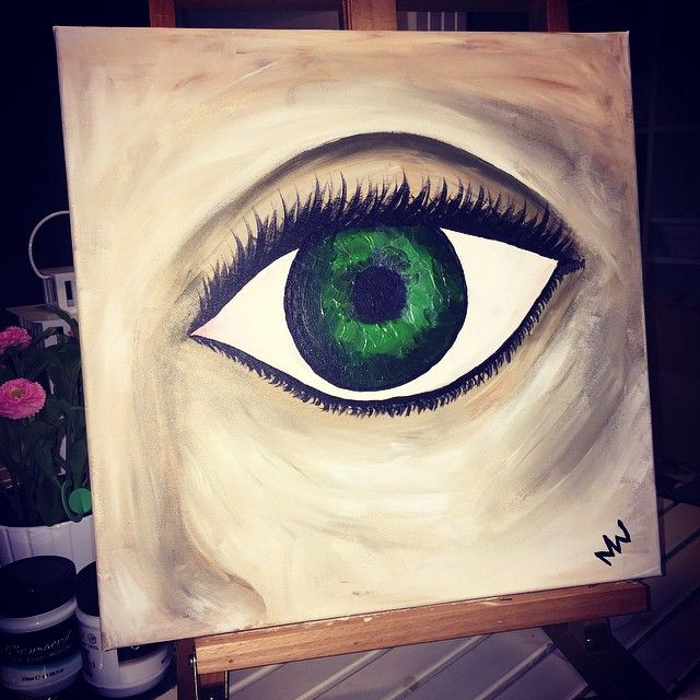 """An eye for an eye makes the whole world blind"" - Ghandi Canvas Medium: Acrylic/Impasto"