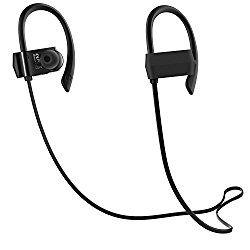 Bluetooth イヤホン 高音質,防汗防滴 スポーツ仕様 外れにくい Bluetooth ヘッドホン ハンズフリー通話 CVC6.0ノイズキャンセリング ワイヤレス イヤホン [国内正規品 / 1年保証付] G18 ブラック おすすめ度*1 ASIN B01N91VH2U イヤーフックが耳に安定させ、イヤーピースは耳にしっかりと差し込まれる。遮音性は普通。音漏れはやや目立つ。 aptXには対応しないが、通信遅延はほぼない。途絶もなく、通信的には安定しており、動画鑑賞も問題ないようだ。 【1】外観・インターフェース・付属品 付属品はイヤーピースの替え、充電用USBケーブル。細身の平形ケーブル…