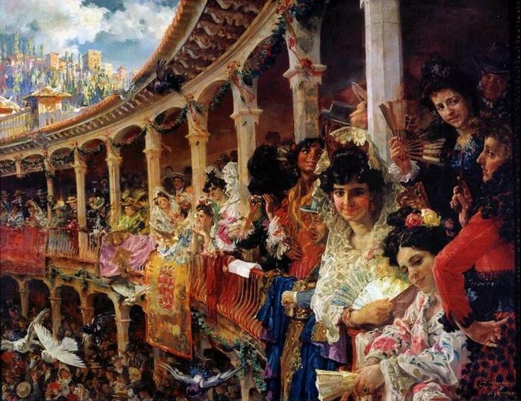 José Garnelo Y Alda  damas en los toros